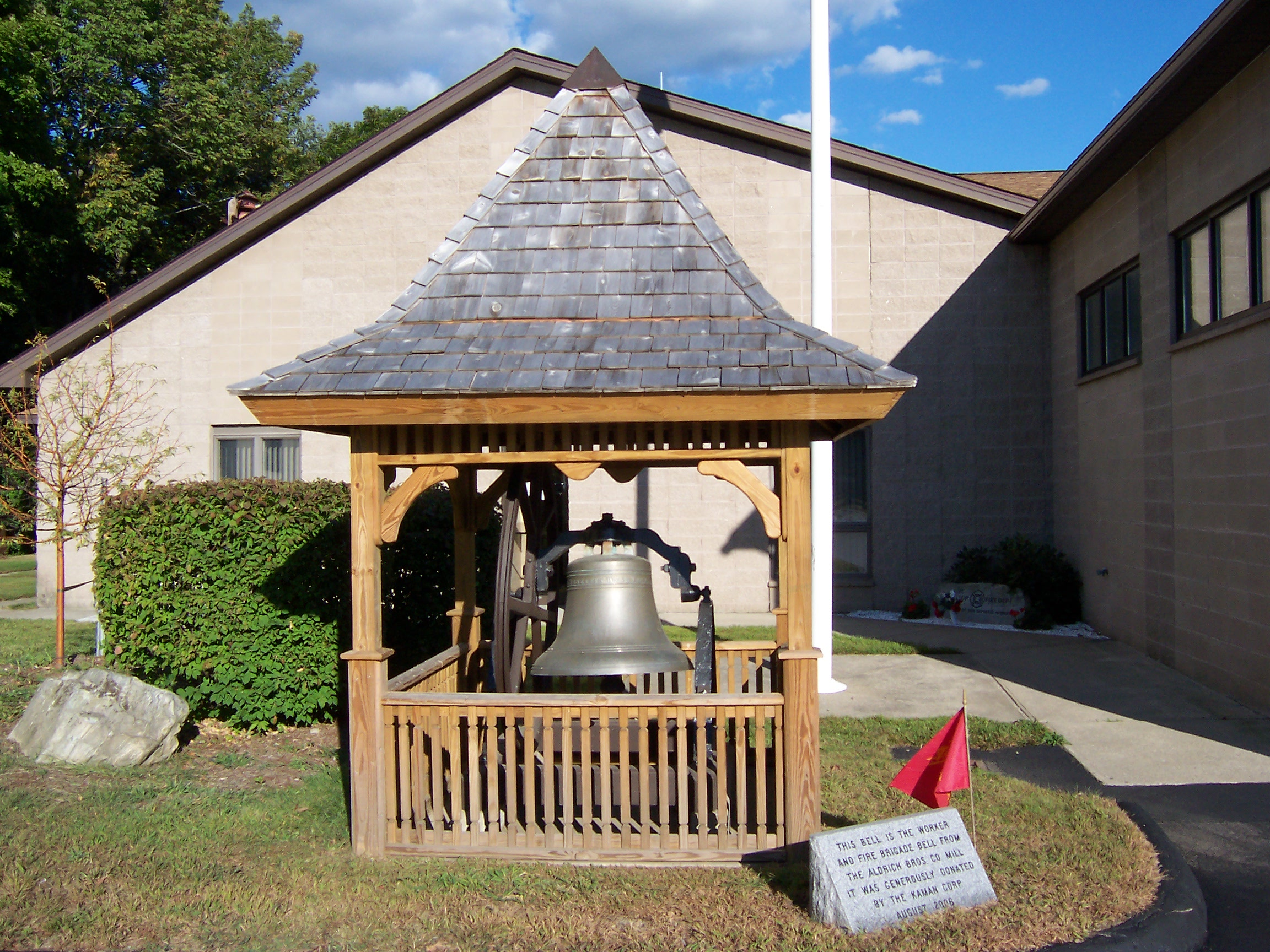 Bell and Gazebo at Moosup Fire Department